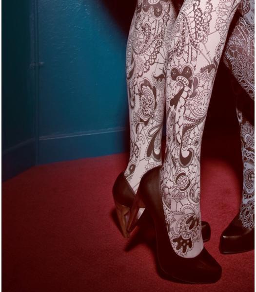 Lace tattoo stockings Bebaroque 1