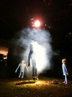 Alien abduction Halloween scene!