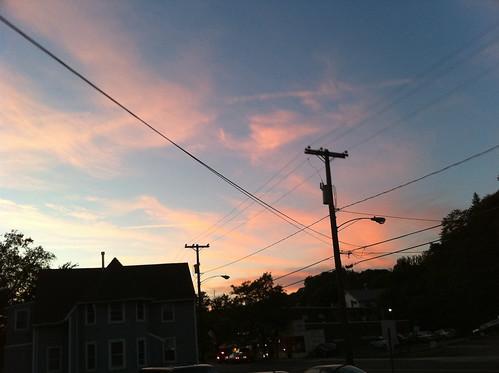 sunset sky sun iphone
