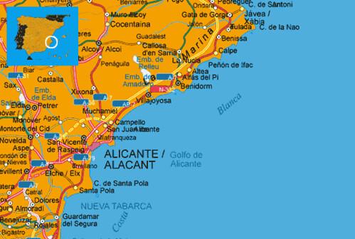 Map Of Spain Costa Blanca.Maps Spain Costa Blanca Map Costa Blanca Spanish Mediterra Flickr
