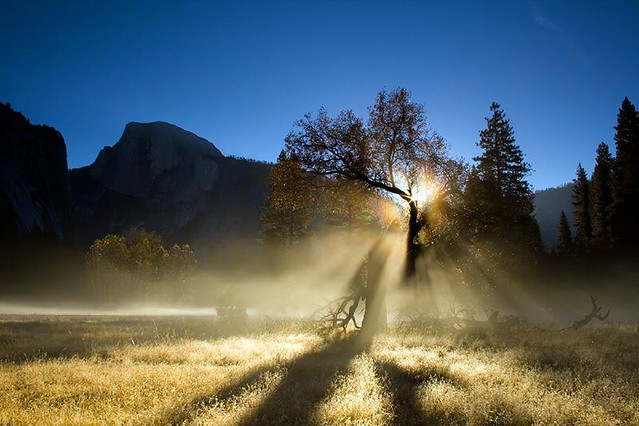 Solar Rainbow in Yosemite Valley