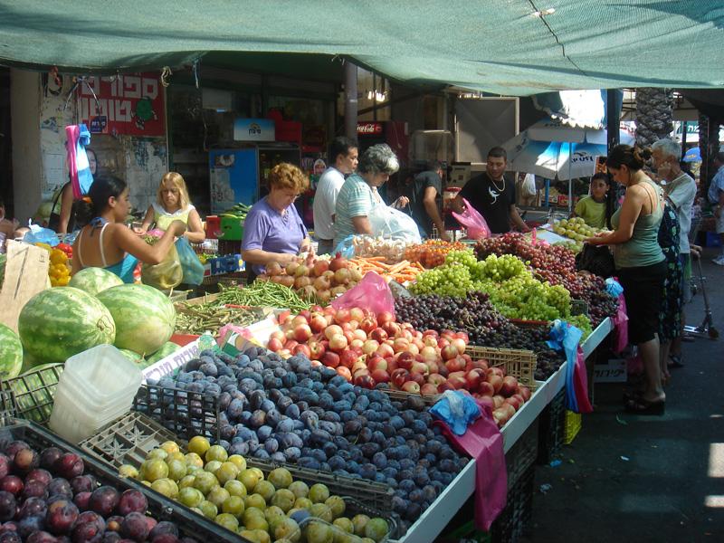 The market at Wadi Nisnas