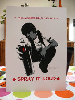 "Jef Aérosol 2007 - print / sérigraphie : ""Spray it loud"" | by Jef Aerosol"