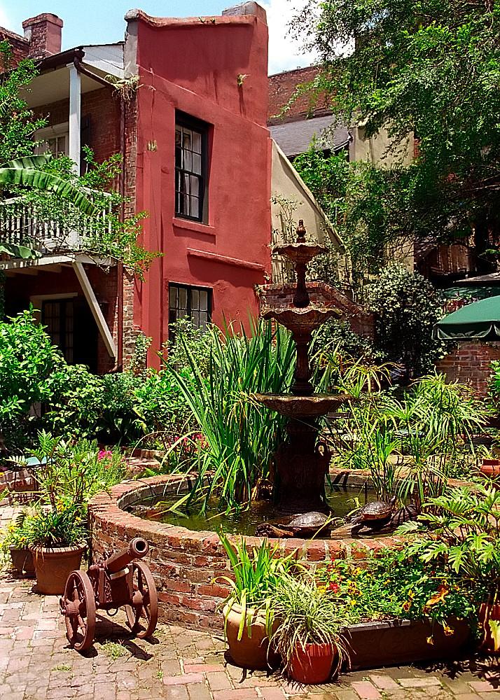 "New Orleans - French Quarter Courtyard ""Hotel Maison de Ville - Courtyard"""