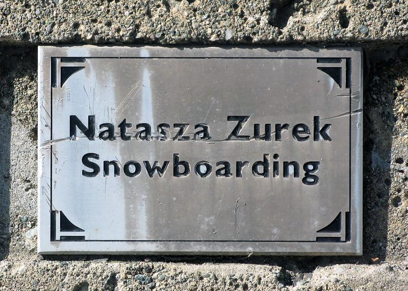 Natasza Zurek plaque