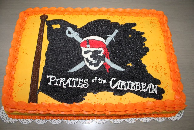 Admirable Pirates Of The Caribbean Cake Please Let Me Know What You Flickr Funny Birthday Cards Online Aeocydamsfinfo