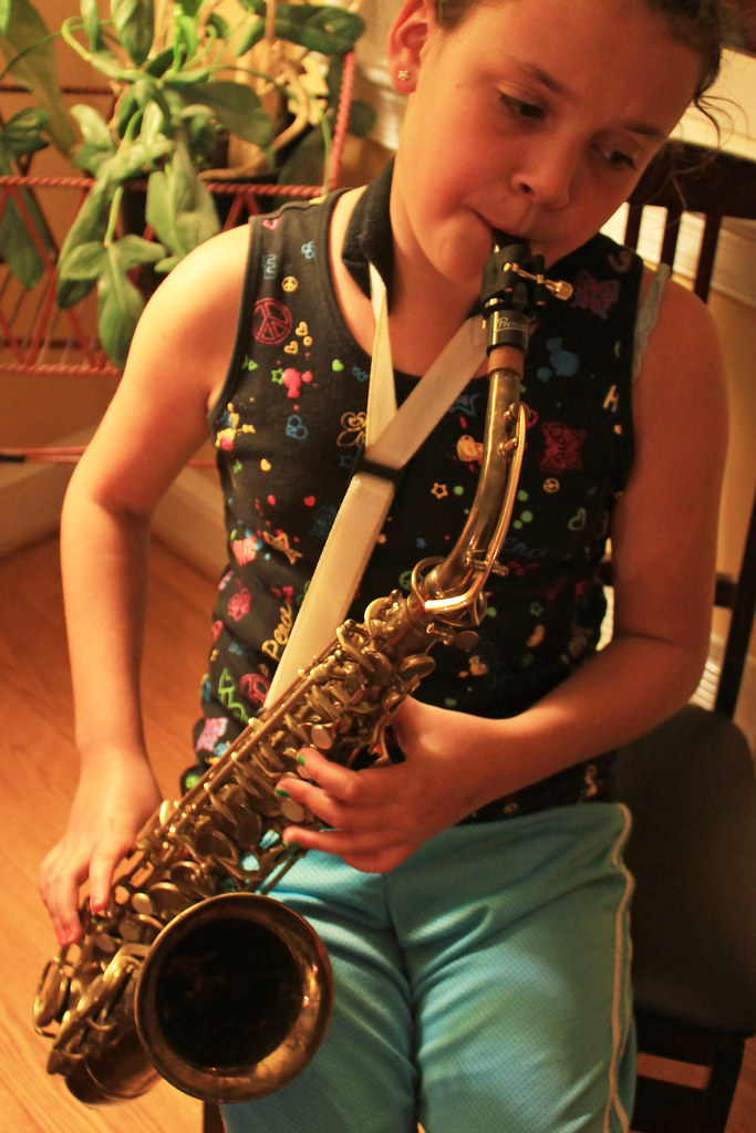 sax gal in the house | We've got the beginnings of a blues p