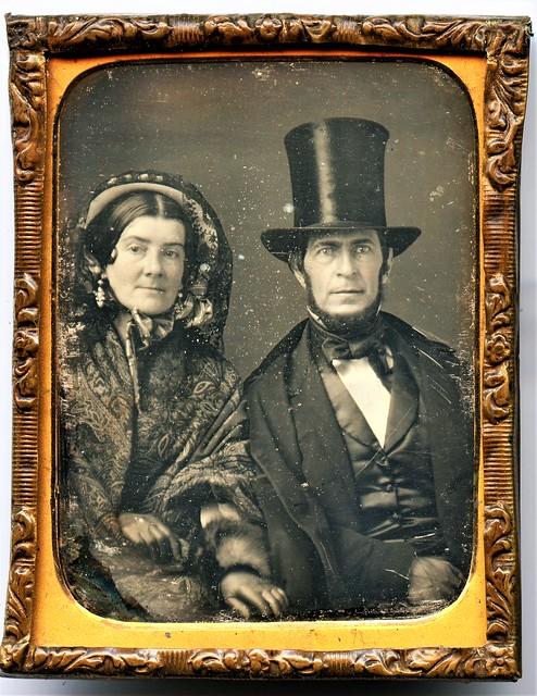 Mr. and Mrs. Eben Bailey - Daguerreotype