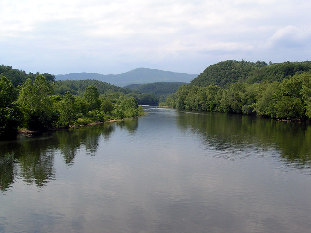 The James River also intersects the Blue Ridge Parkway