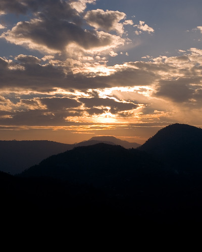 sunset india mountain clouds landscape geotagged places uttaranchal naturetrail sitla