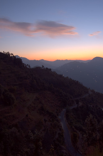sunset india house building landscape geotagged photography village places things uttaranchal hdr sitla