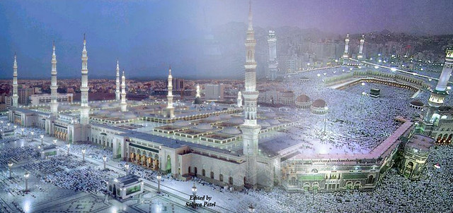 aafb7e2cd44 Makkah Madina | A combined image of the two holy Mosques in … | Flickr