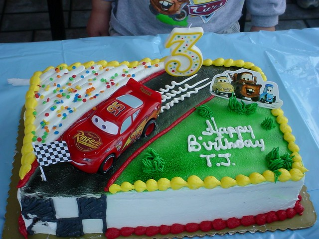 Brilliant Tjs Birthday Cake At Mcdonalds The Theme Was Cars Unf Flickr Birthday Cards Printable Nowaargucafe Filternl