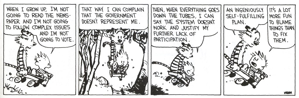 Calvin and Hobbes | taking the moral high ground | J Mark Dodds | Flickr