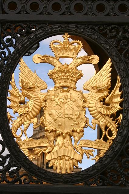 Gate decoration, Blenheim Palace, near Oxford