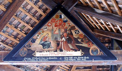 Roof panel on the Kapellbrücke