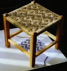 zigzag seagrass stool | by allybeag