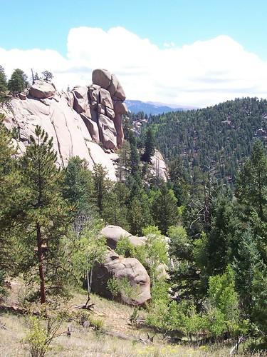 ranch mountains rockies colorado altitude rocky cliffs pikespeak rugged twinrocks muellerstatepark blazym