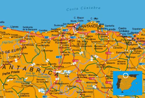 Mapa Costa Cantabria España Muchoviaje Hoteles En Cost Flickr