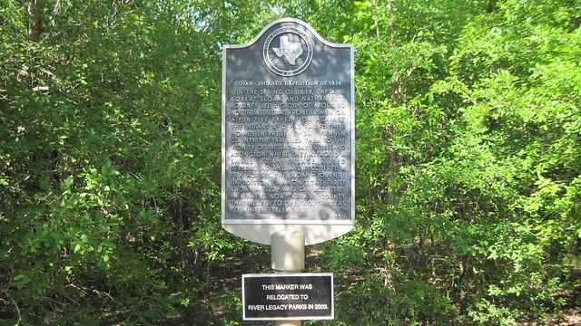 Sloan-Journey Expedition of 1838, Arlington Texas Historical Marker