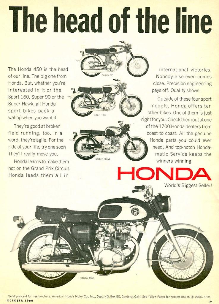 VINTAGE HONDA HAWK II MOTORCYCLE BANNER