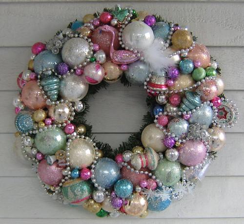 """Flamingo Wreath"" | by Treasured Heirlooms"
