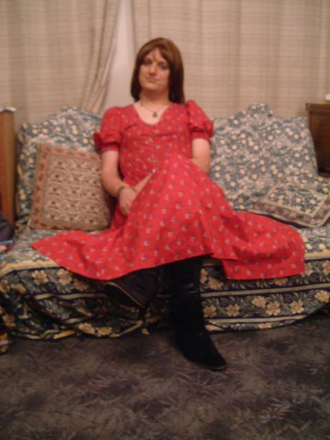 Laura Ashley Dress - Seated