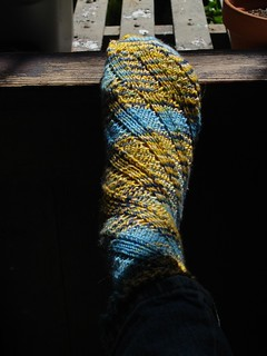 Sock of my own design | by Girlontherocks