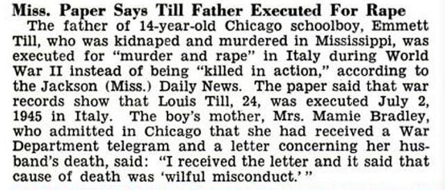 Emmett Till Case - Jackson Mississippi Paper