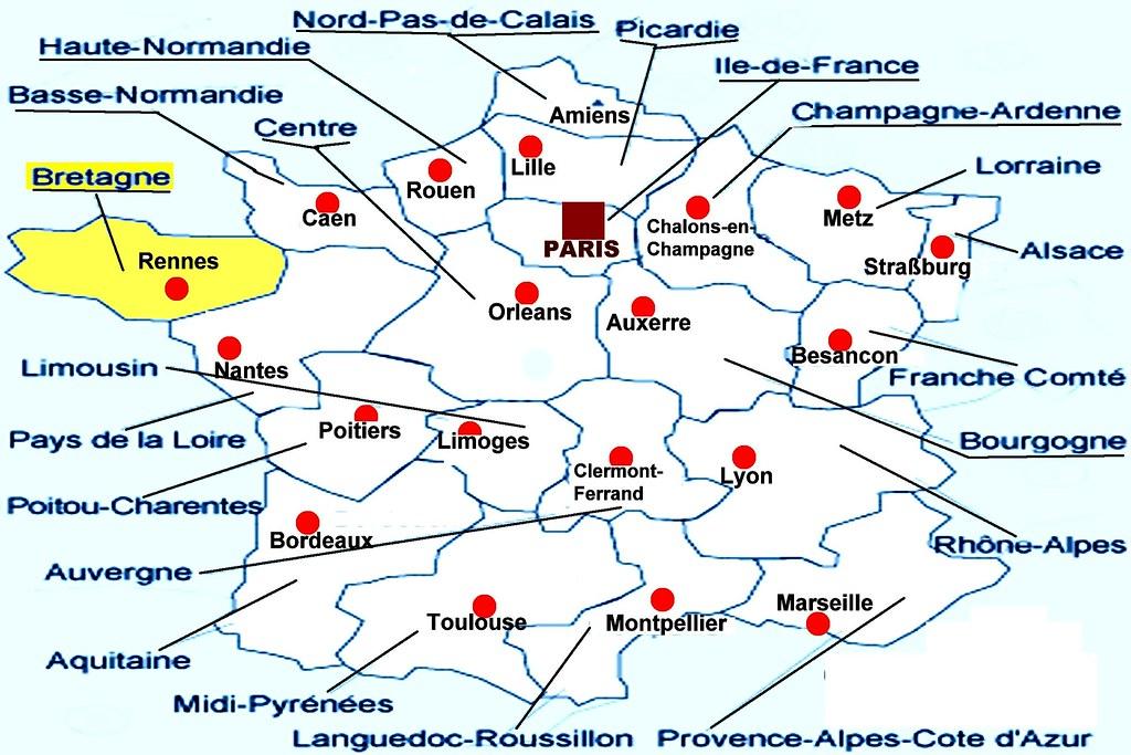 Nantes Karte.E F Karte Bretagne Juergen Kurlvink Flickr