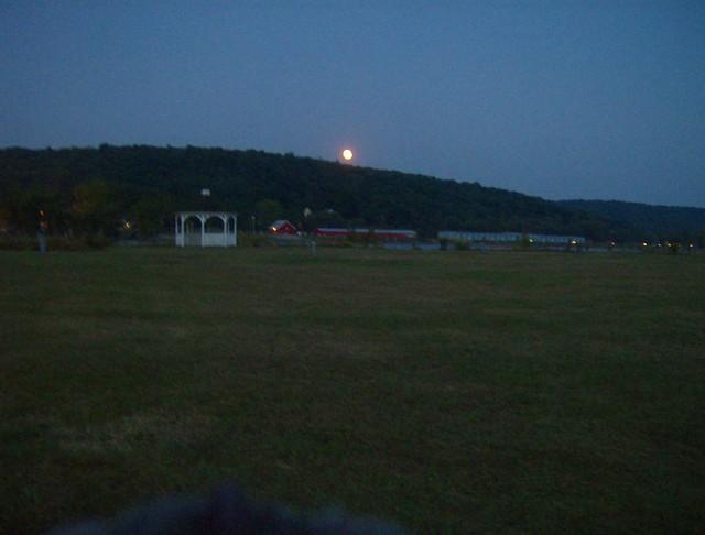 Harvest moon over east haddam