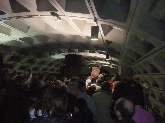 Lots of people in the metro station 2