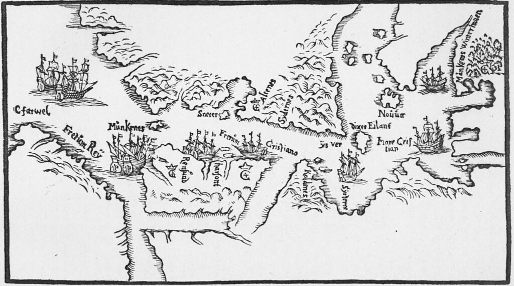 Map of Hudson Strait And Hudson Bay by Jens Munck 1624