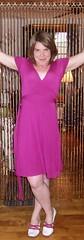 hot pink dress | by un flaneur