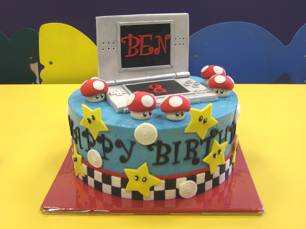 Brilliant Nintendo Ds Mario Kart Birthday Cake Chcolate Cake With Bu Flickr Personalised Birthday Cards Sponlily Jamesorg