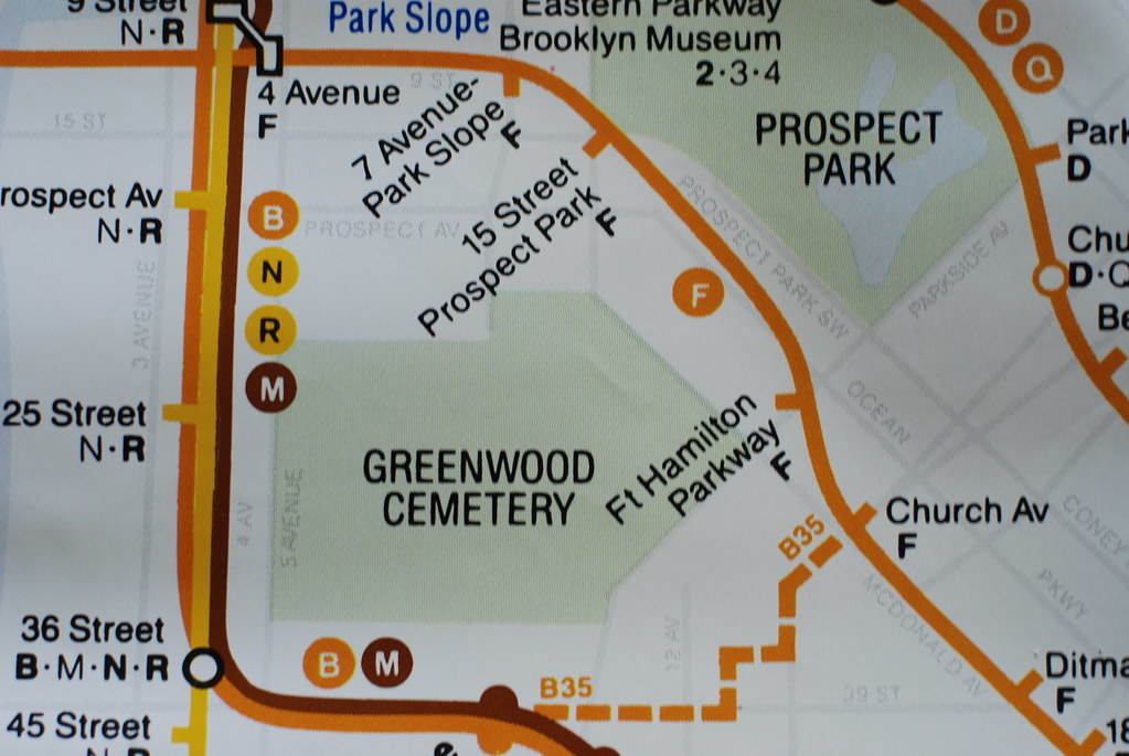Prospect Park Subway Map.Subway Map 1988 Triborough Flickr