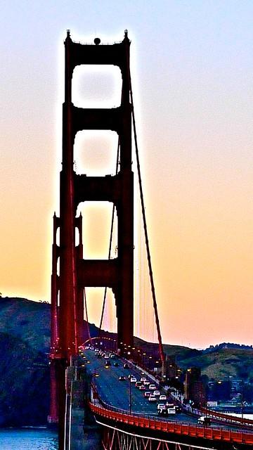 Twilight Golden Gate Bridge Going North