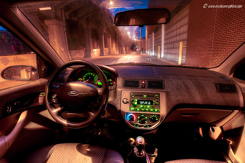 Ford Focus Interior and the 12th Street Bridge | by ericbowers