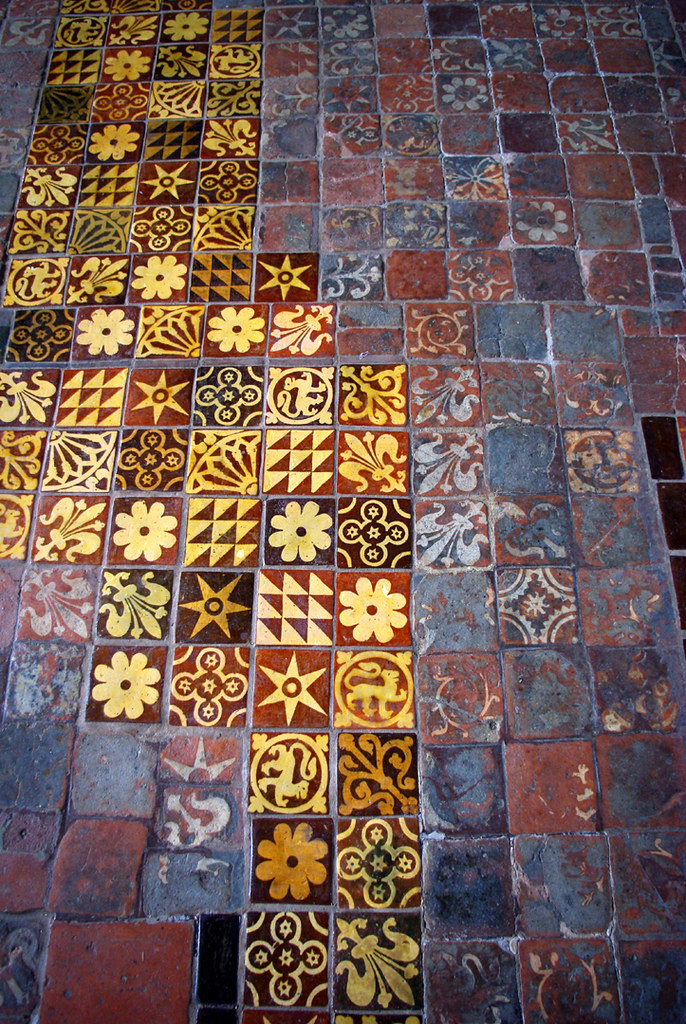 Winchester Cathedral Medieval Floor Tiles Old Have