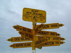 Bluff Sign Post, New Zealand