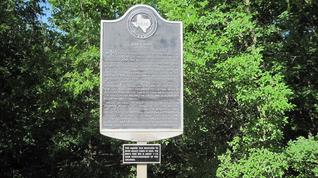 Site of Bird's Fort (One Mile East), Arlington Texas Historical Marker