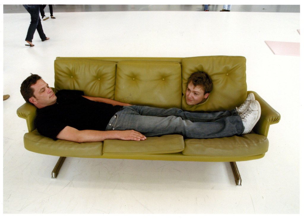 One Minute Sofa At The Erwin Wurm Exhibition At The Deich Flickr