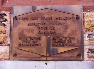 Canadian prime meridian plaque | by jpctalbot