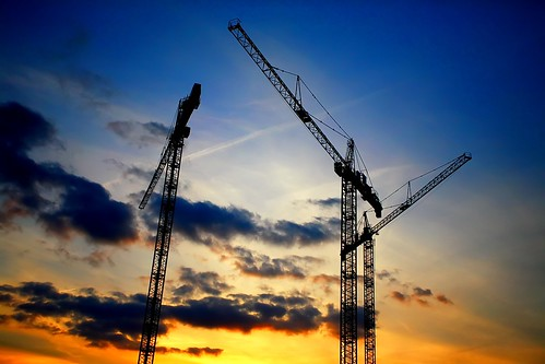 city blue parque sunset orange building silhouette topv111 azul clouds nc construction raw raleigh cranes walkabout conventioncenter 5d construcción naranja dpp parkingdeck rcc 1740l img7191