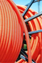 Orange Tubing at Wayne State University--Detroit MI