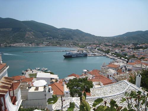 Skopelos city - port view