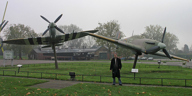 At the Royal Air Force Museum entrance