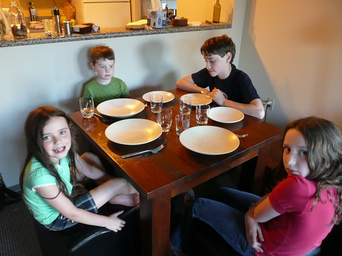 Hungry Kids At Table | by Michael Newton