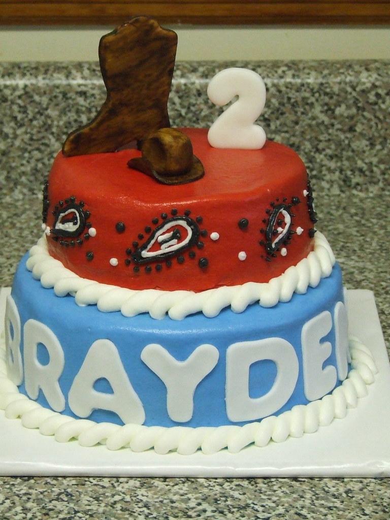 Brilliant Cowboy Birthday Cake Cowboy Birthday Cake Debbie Flickr Personalised Birthday Cards Cominlily Jamesorg