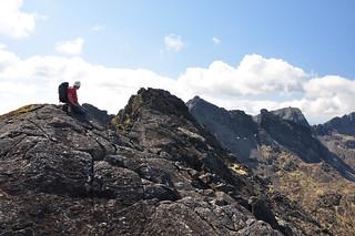 Gareth on the summit of Sgurr Dhu Mor